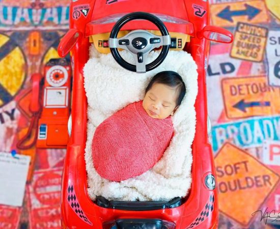 Keep Calm and Strap in it's raceday for 2 weeks old Antonio Mikhail   #babyphoto...