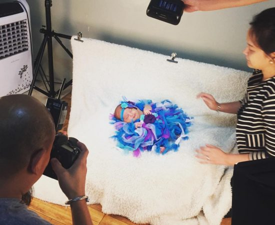 #BTS of Ysla's #newbornshoot yesterday. Thanks so much, Val and Bambi!  #yslabon...