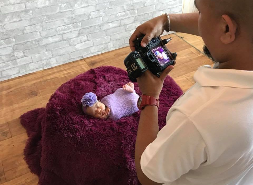 Its been a while ive been posting behind the scene photos from our baby photo se...
