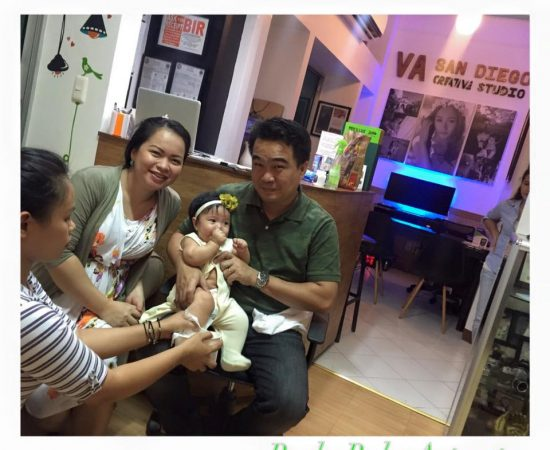Our Ninong Councilor Bernie Al-ag with his pretty wife ate Che and adorable daug...