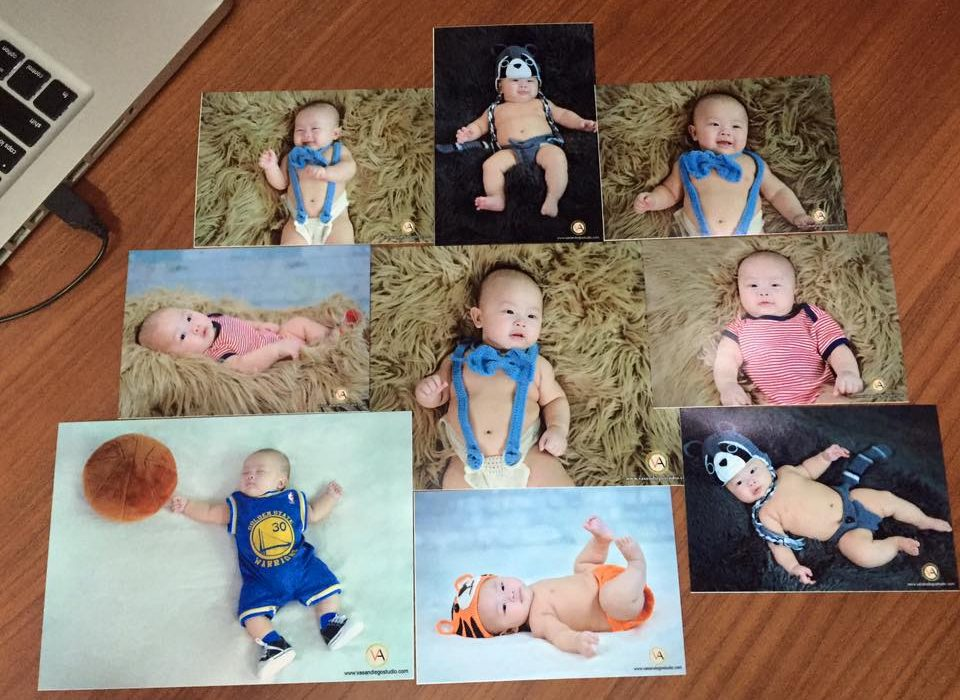 Our baby studio photoshoot comes with wonderfully printed photos! Send us a pm f...