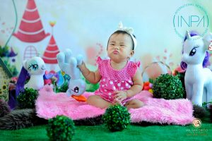 Rainbows and Unicorn has inspired the theme for the pre-birthday shoot studio pi...
