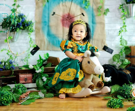 Studio pictorial of Brave turns 1  #BraveMovieTheme#inpa #babyphotographer #vasa...
