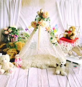 Todays setup for our own 'lil princess pictorial :) #ysabellaValerie #vasandiego...