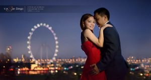 A Singapore Flyer Facade shoot