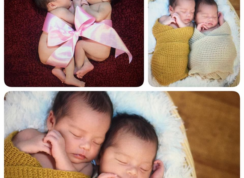 "ATM newborn shoot :) ""twice the joy,twice the love,twice the blessings"" -"