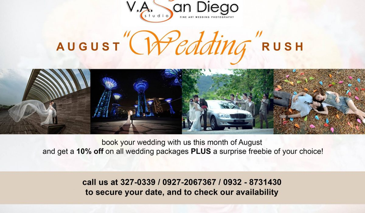 "August ""WEDDING"" Rush Promo - #vaSandiegoStudio #davaoweddingphotographer"