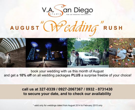 "August ""WEDDING"" Rush Promo - #vaSandiegoStudio #davaoweddingphotographer"