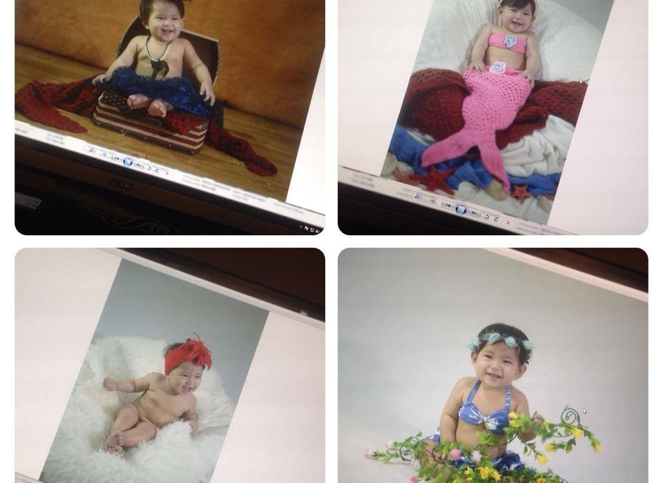 Cuteness overload! Just finished studio photo session with baby Kailani Mae :)