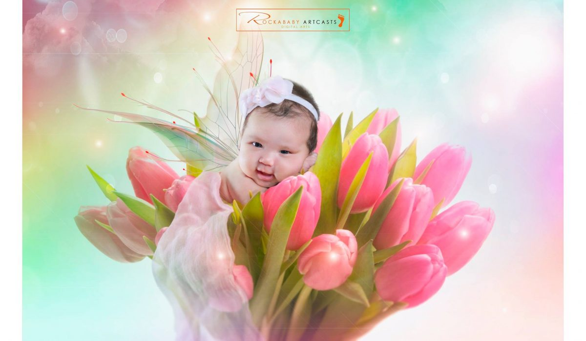 Heres another work of art for Baby Helga at 1 month old! Enjoy! #rockaBabyArtcas...