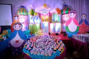 """The one of its kind matryoshka doll theme party""  Decors by : Party Sisters  Ph..."